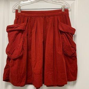 Red skirt from Anthropologie